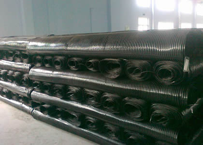 There are a large quantity of uniaxial geogrids in our warehouse.